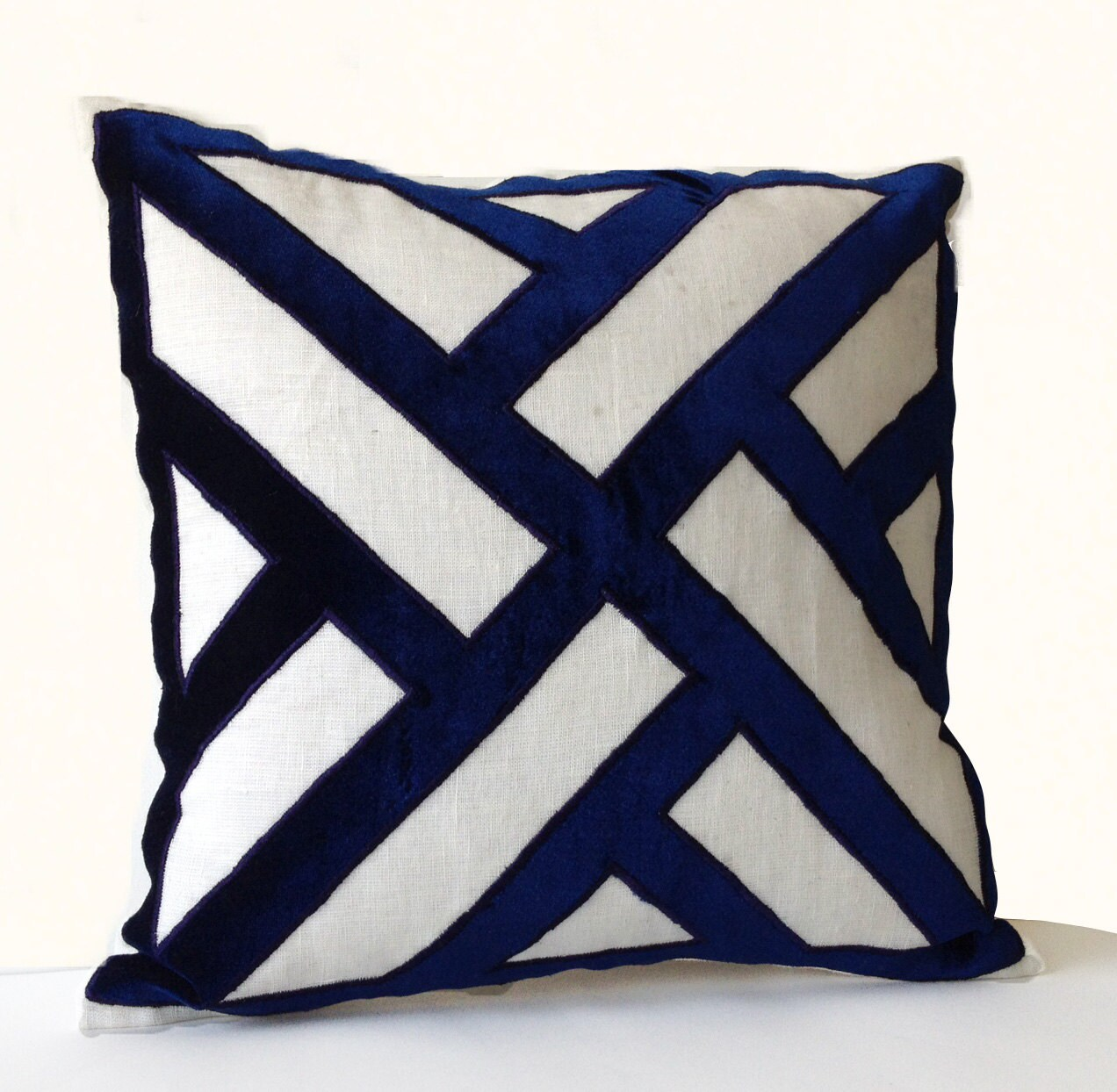 s kitchen throw brushed com corded blue the made dp usa u navy pillows home polyester amazon a pillow in