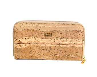 Vegan KARMYLIEGE Golden Cork bifold wallet