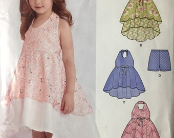 Girls' Dresses New Look 6387   Size 3-8 Uncut and Complete