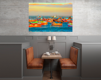 Boats,boats wall art,boats oil print,boats photography,sea boats landscape,sea fishing boats print,fishing boats prints,sea nature landscape