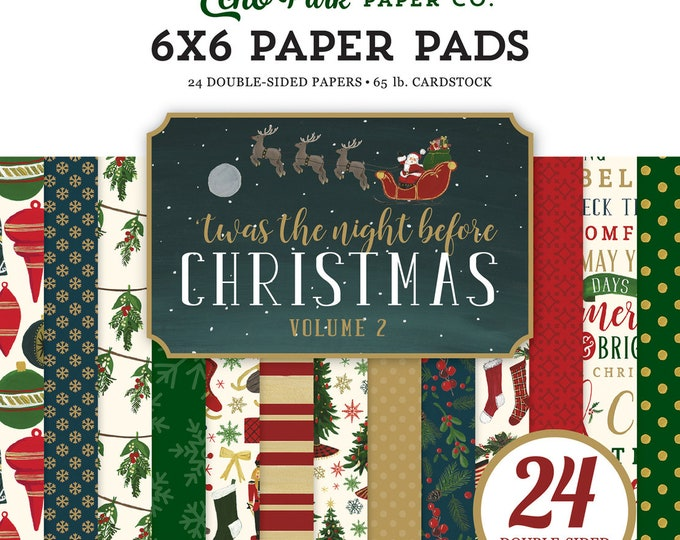 Echo Park Paper 'Twas the Night Before Christmas - Vol. 2 - 6x6 Scrapbook Paper Pad