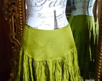 Vintage 1980's Carla Dunord Tiered Ruffled Skirt