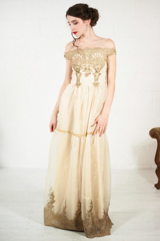 Barocke Hochzeit Spitzenkleid alternative 1920er Jahren