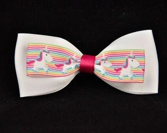Two Piece Unicorn Bow 4in / 10cm