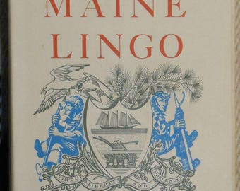 vintage first ed book by John Gould titled Maine lingo signed inscribed annotated