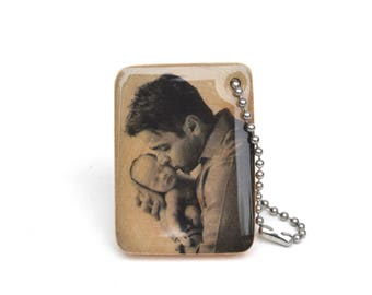 Custom father's day Gift Personalized Fathers Day keychain photo Keychain for men • Mens Personalized • Personalized Gift • 5th anniversary