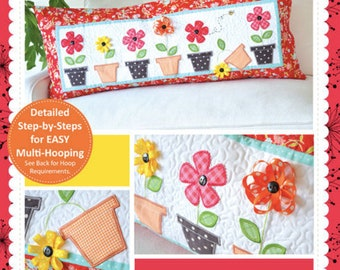 Quilt Pattern by Kimberbell:  May Flowers Bench Pillow