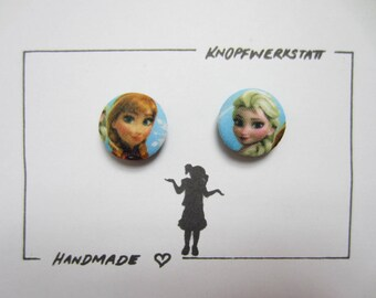 2 Fabric Knobs 25 mm, buttons, children buttons, buttons, buttons, Fabric button, fabric buttons, knob, buttons, sewing button, craft button, Anna and Elsa