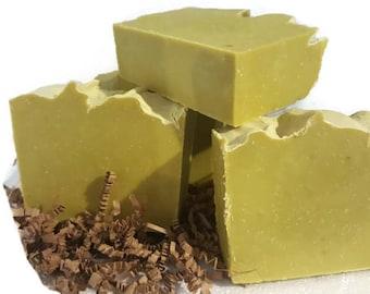 Earthy Green Avocado Oil Soap / juicy apple / blueberry scented soap / lathering rich soap / avocado soap / handmade soap, low shipping