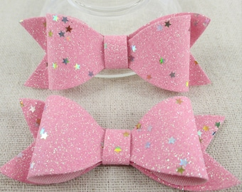 25pcs Glitter Star bow for DIY project