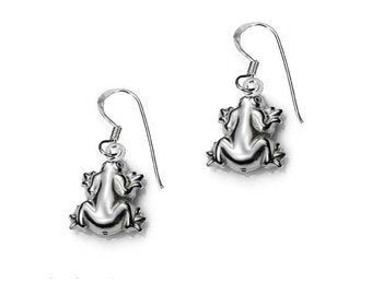 925 sterling Silver Frog earrings