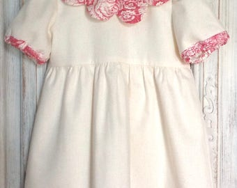 Off white ceremonial dress and toile baby girl