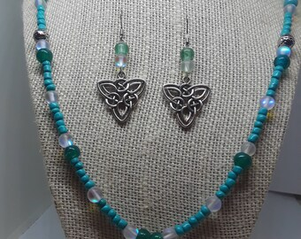 Celtic Knot Necklace and Earrings