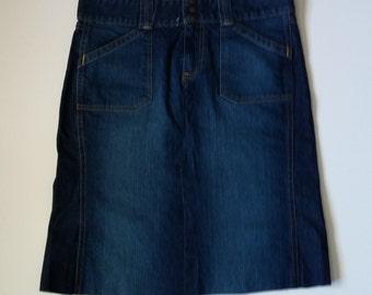 Ladies Upcycled Denim Skirt