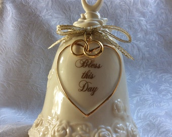 Bless This Day Vintage Wedding Bell by Roman Inc.