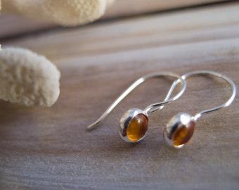 Amber Jewelry, Amber Earrings, Sterling Silver Earrings, Silver Dangle Earrings, Hook Earrings, Minimalist Jewelry, Drop earrings, Boho