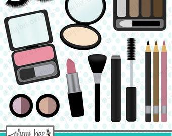 SALE! Makeup-Beauty- Clipart Set, Commercial Use, Instant Download, Digital Clipart, Digital Images- CP217