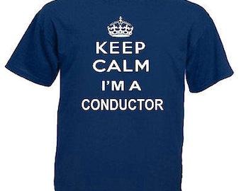 Keep calm conductor children's kids t shirt