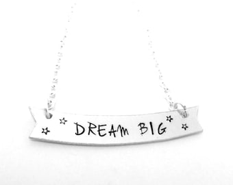 Dream Big Banner Necklace