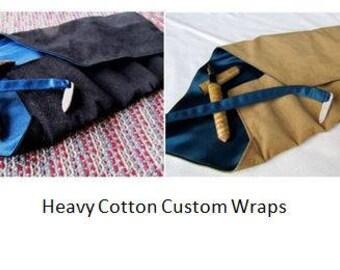 Heavy Cotton Custom Pen Wrap, Pen Roll, Pen Case