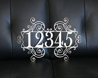House Number Metal Sign | Address Sign | Home Address Sign | Address Number Sign | Metal Address Sign | Home Address Sign
