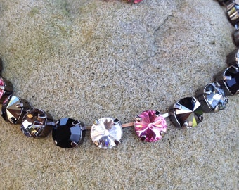 Stunning 11mm swarovski necklace/ earring combo