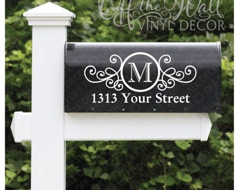 Vinyl Mailbox Lettering Decoration Decal Sticker X2 For Each Side, #D22