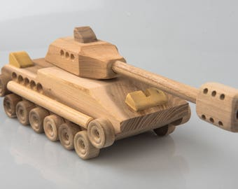 Wooden Tank / Wooden Toy / Wooden Gift for Kid