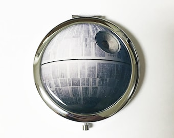 Death Star Inspired Compact Mirror