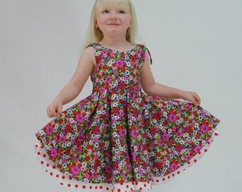 Girls Party Dress, Girls dresses, Swing Dress, Toddler dress, Childrens Clothing, Girls Clothing, Baby Girl Dress, pink dress, size 2 - 10