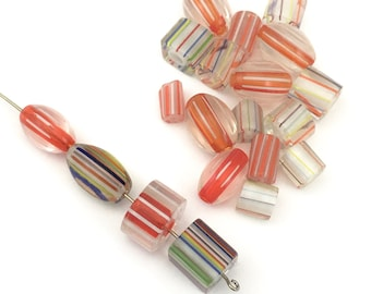 20  furnace glass beads, 9mm to 16mm # PV064