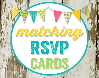 RSVP CARD to match any design for baby shower or party, digital, DIY printable file katiedid designs cards
