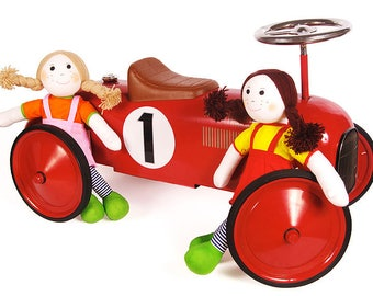 Personalised racing car, toys for one year old, toys for two year old, ride on car, sit on car, ride on toys, sit on toys,personalised toys