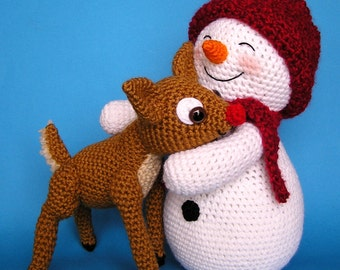 Crochet SNOWMAN and FAWN pattern (English only)