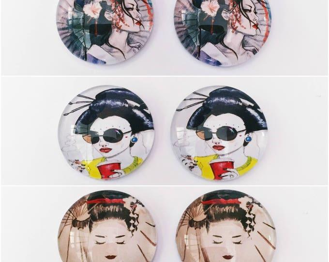 The 'Geisha' Glass Earring Studs
