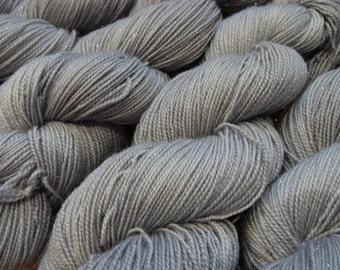 A Nice Silver, soft sparkle merino nylon blend sock yarn