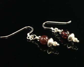 Sterling and Amber earrings