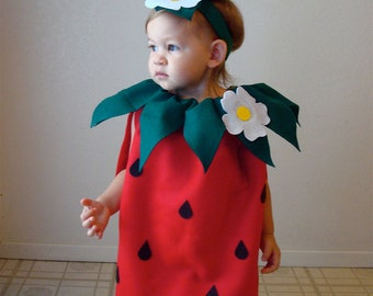 Baby Costume Strawberry Costume Halloween ...  sc 1 st  Etsy & Halloween costume toddler girl | Etsy