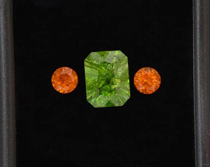 FLASH SALE! Fascinating Grossular and Spessartine Garnet Gemstone Set 4.24 tcw.