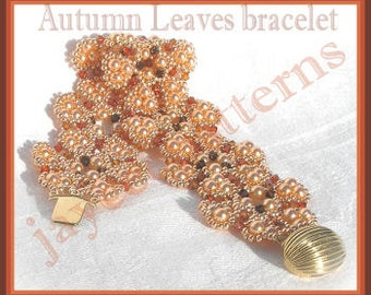 Beading tutorial - Autumn Leaves bracelet - Triangle weave