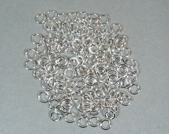 6mm Silver Plated Jump Rings - Choose Your Quantity