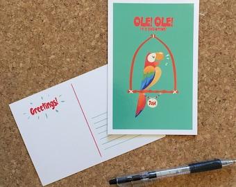 Jose, the Tiki Bird Postcard - 4x6 in