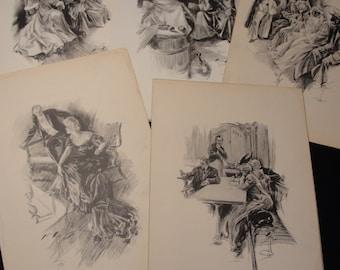 1905 Harrison Fisher Prints - Set of 5