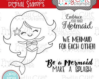 Inner Mermaid DIGITAL Stamp Set