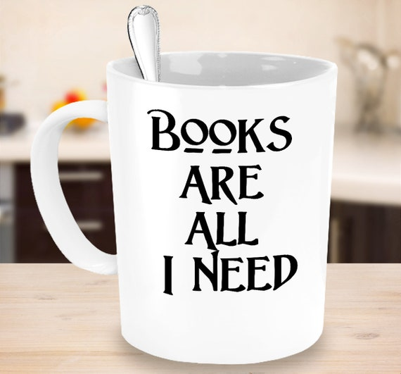 Avid reader coffee mug books are all i need tea cup gift for librarian