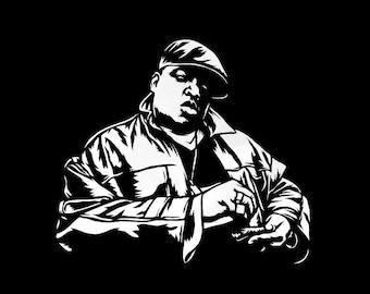Notorious B.I.G Stencil Art Print 8.5x11