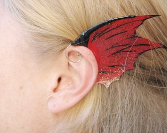 Mermaid Ear Fins, Water Dragon Fin Ear Cuffs, Custom Ear Wings for Cosplay and Costumes
