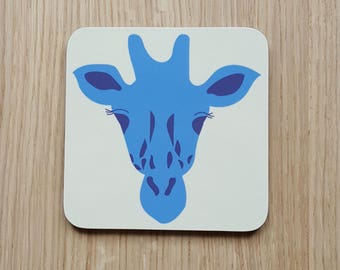 Blue Giraffe Coaster