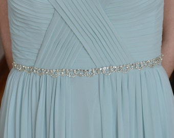 Bridal Sash, Bridesmaid Belt, Diamante Sash, Wedding Belt, Rhinestone Belt, Wedding Sash, Bridal Belt, Rhinestone Swag, Crystal Belt