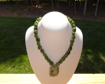 Jade and Rhyolite Necklace
